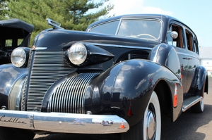 Cadillac Siyah Klasik Otomobil Kanvas Tablo