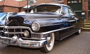 Cadillac Siyah Klasik Otomobiller 1 Siyah Eski Amerikan Klasik Arabalar Kanvas Tablo
