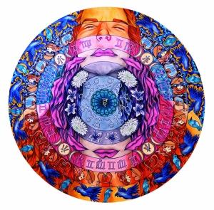 Çakralar Astroloji & Burçlar Kanvas Tablo