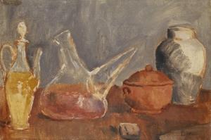Cam Eşyalar, Natürmort Pablo Picasso, Klasik Sanat Kanvas Tablo