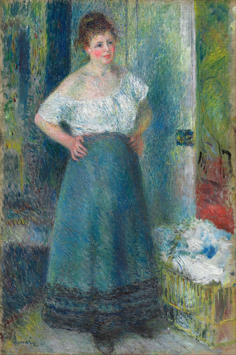 Camarsirhane, Pierre August Renoir The Laundress Klasik Sanat Kanvas Tablo