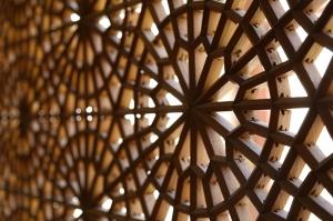 Camii İç Ahşap Deseni Dini & İnanç Kanvas Tablo
