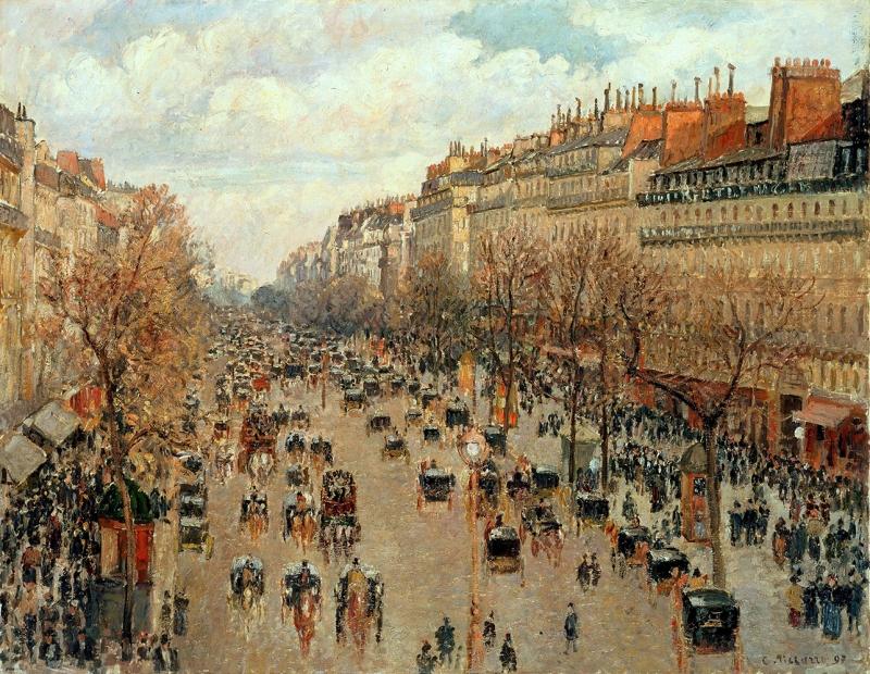 Camille Pissarro Boulevard Montmartre Yağlı Boya Reprodüksiyon Klasik Sanat Kanvas Tablo
