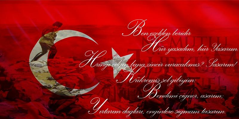 Çanakkale Çephesi, Ataturk, İstiklal Marşı-2 Kanvas Tablo