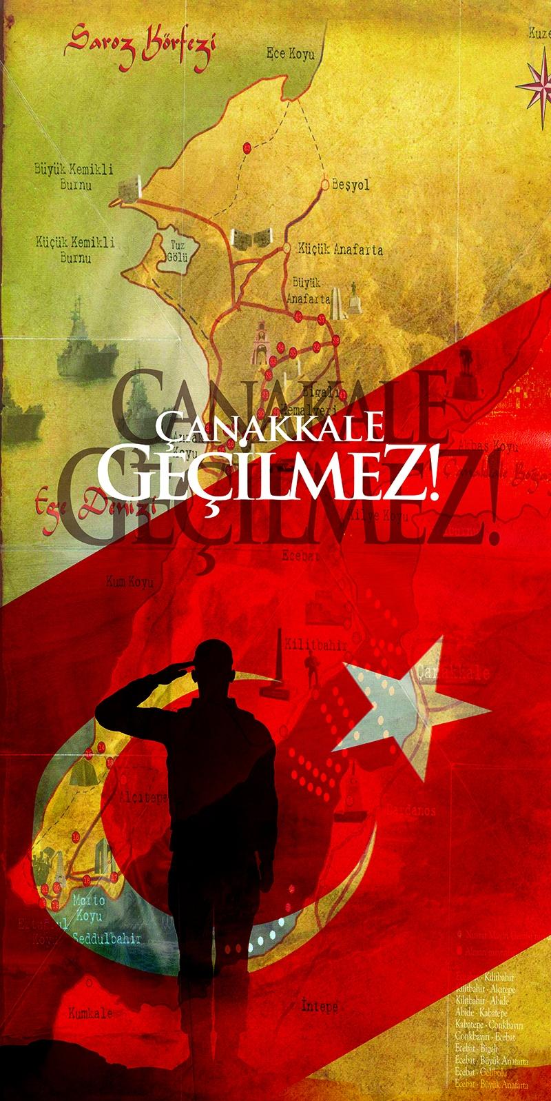 Çanakkale Geçilmez Türk Askeri-1 Türk Tarihi Kanvas Tablo