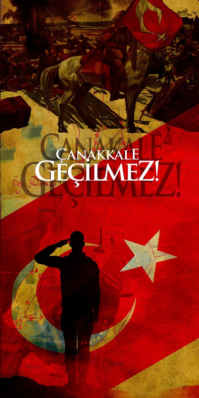 Çanakkale Geçilmez Türk Askeri-3 Türk Tarihi Kanvas Tablo