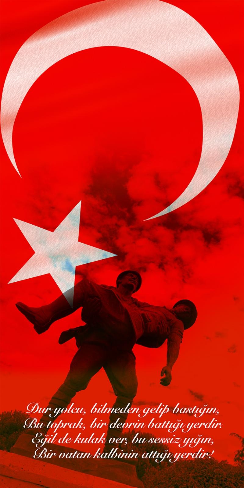 Çanakkale Şehitleri Türk Tarihi Unique Kanvas Tablo