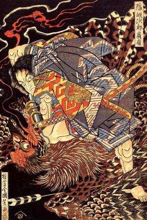 Canavarı Öldürme Samuray Savaşçı Maskesi-85 Japonya Modern Sanat Kanvas Tablo