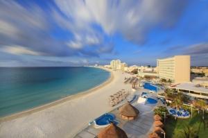 Cancun Sahilleri Meksika Doğa Manzaraları Kanvas Tablo