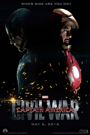 Captain America Civil War-2016 Film Afişi Sinema Kanvas Tablo