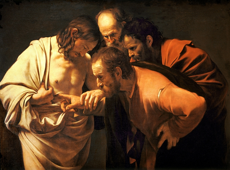 Caravaggio Ressam Eser Adı Meraklı Thomas Yağlı Boya Sanat Kanvas Tablo