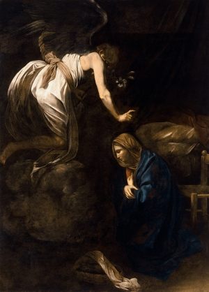 Caravaggio The Annunciation Yağlı Boya Sanat Kanvas Tablo