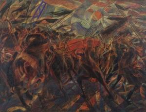Carlo Carra Anarsit Galli'nin Cenazesi Yağlı Boya Klasik Sanat Canvas Tablo