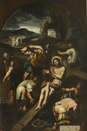 Çarmığa Gerilme 1582, Francisco Ribalta Klasik Sanat Kanvas Tablo