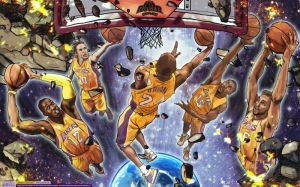 Cartoon Nba Çizim Kanvas Tablo