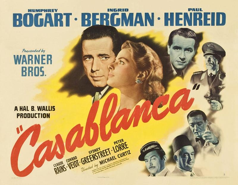 Casablanca Retro Eski Film Poster Kanvas Tablo