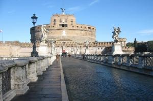 Castel Sant Angelo, Tiber Nehri, Roma, İtalya Manzara-12 Dünyaca Ünlü Şehirler Kanvas Tablo