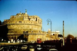 Castel Sant Angelo, Tiber Nehri, Roma, İtalya Manzara-18 Dünyaca Ünlü Şehirler Kanvas Tablo