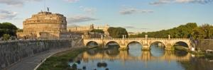 Castel Sant Angelo Tiber Nehri Roma İtalya Manzara-5 Panaromik Manzara Dünyaca Ünlü Şehirler Kanvas Tablo