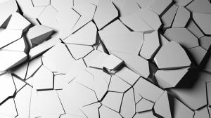 Çatlaklar Abstract Dijital ve Fantastik Kanvas Tablo