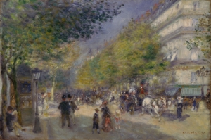 Çay Bulvarı, Pierre August Renoir, The Grands Boulevards Klasik Sanat Kanvas Tablo