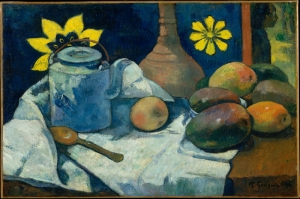 Çaydanlık Ve Meyve Naturmort Paul Gauguin Reproduksiyon Kanvas Tablo