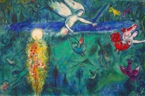 Cennetten Kovulan Adem Ve Havva Marc Chagall Adam And Eve Expelled From Paradise-1961 Klasik Sanat Kanvas Tablo