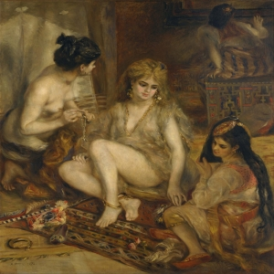 Cezayir Haremindeki Parisliler, Pierre August Renoir Parisiennes in Algerian Harem, Klasik Sanat Kanvas Tablo