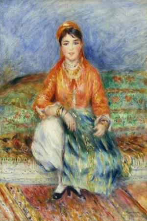 Cezayirli Kız, Pierre August Renoir, Algerian Girl Klasik Sanat Kanvas Tablo