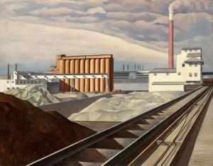 Charles Sheeler Fabrika Amerika Yağlı Boya Klasik Sanat Canvas Tablo