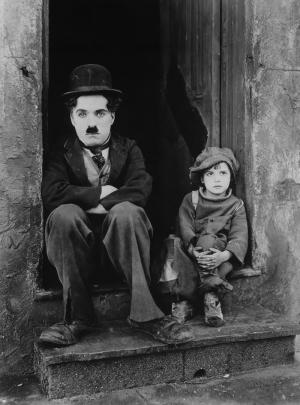 Charlie Chaplin Siyah Beyaz Fotoğraf Kanvas Tablo