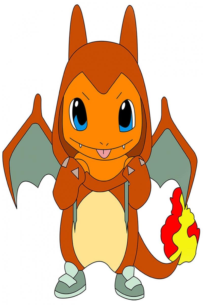 Charmander-1 Pokemon Karakterleri Kanvas Tablo