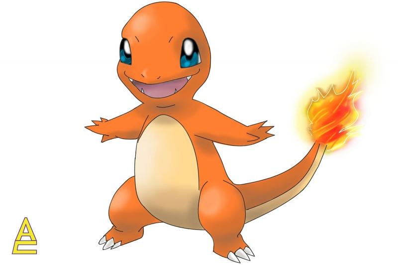 Charmander 8 Pokemon Karakterleri Kanvas Tablo