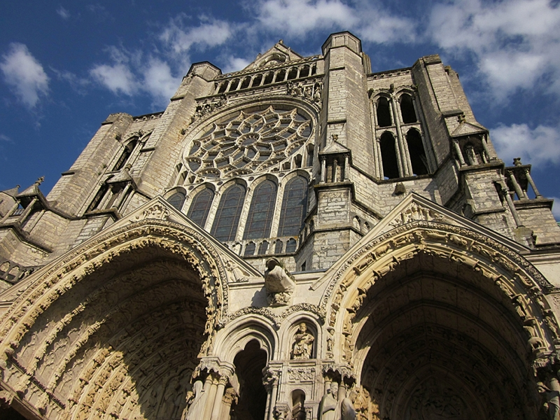 Chartres Cathedral Unesco Dünya Kültür Mirasları Kanvas Tablo