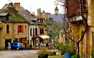 Chateau De Najac Fransa Dünyaca Ünlü Şehirler Kanvas Tablo
