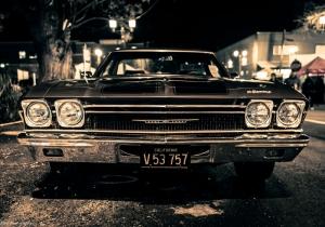 Chevrolet Impala Onden Gorunum 2 Eski Amerikan Klasik Arabalar Kanvas Tablo