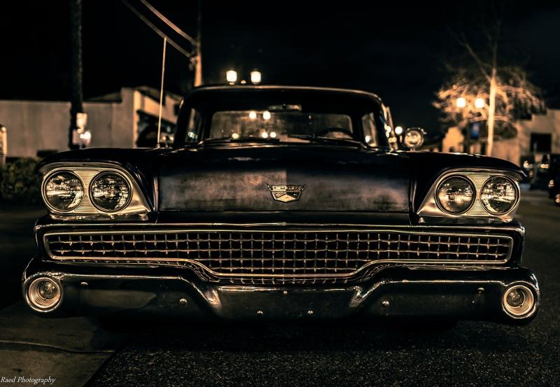 Chevrolet Impala Onden Gorunum 3 Eski Amerikan Klasik Arabalar Kanvas Tablo
