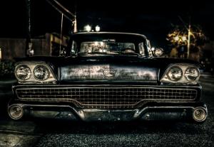 Chevrolet Impala Onden Gorunum 4 Eski Amerikan Klasik Arabalar Kanvas Tablo
