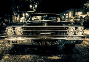 Chevrolet Impala Onden Gorunum 5 Eski Amerikan Klasik Arabalar Kanvas Tablo