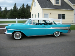 Chevy 1957 Model Eski Klasik Amerikan Klasik Otomobiller 1 Arabalar Kanvas Tablo