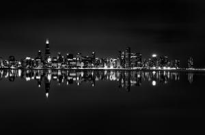 Chicago Dünyaca Ünlü Şehirler Kanvas Tablo