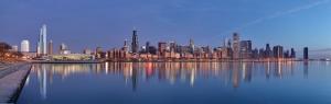 Chicago Şehir Manzarası Dünyaca Ünlü Şehirler Kanvas Tablo