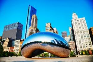 Chicago The Bean Dünyaca Ünlü Şehirler Kanvas Tablo