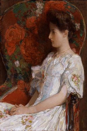 Childe Hassam Victoria nın Sandalyesi Bir Gün Yağlı Boya Klasik Sanat Kanvas Tablo