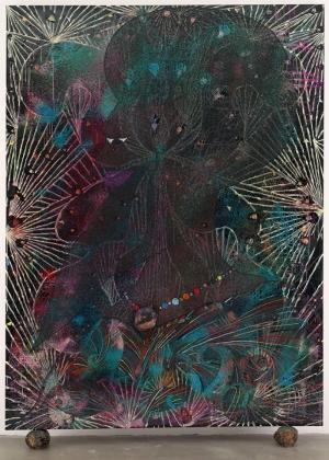 Chris Ofili Hırsızların Prensesi Yağlı Boya Klasik Sanat Canvas Tablo