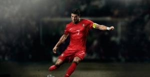 Christiano Ronaldo Portekiz Futbol Star Kanvas Tablo