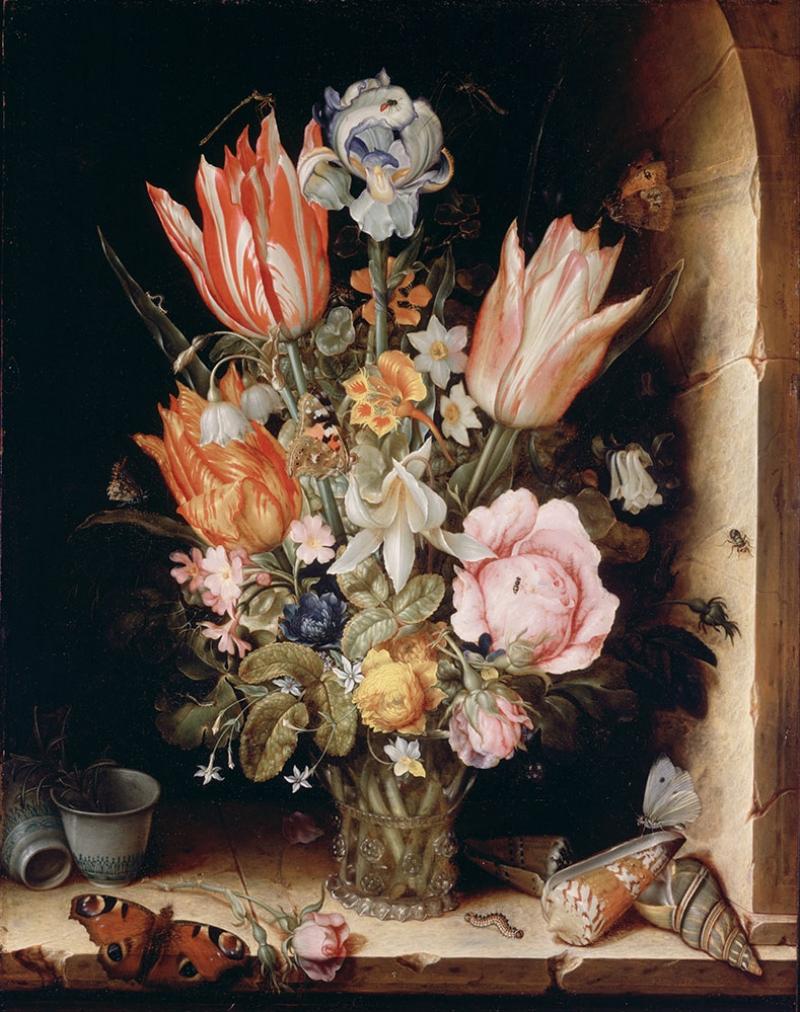 Christoffel Van Den Berghe  Vazo İçinde Çiçekler Klasik Sanat Kanvas Tablo