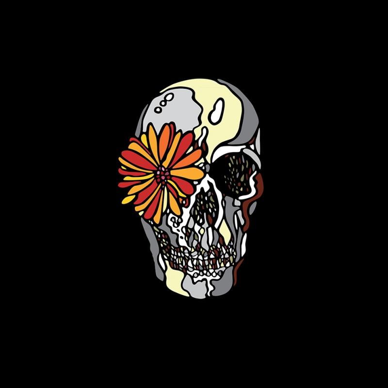 Çiçek ve Kuru Kafa Popüler Kültür Kanvas Tablo