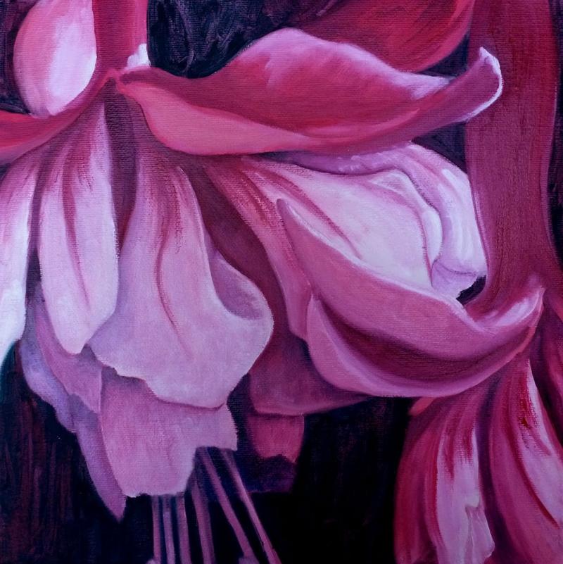 Çiçekler 10, Sarı, Mor Laleler İç Mekan Dekoratif Kanvas Tablo