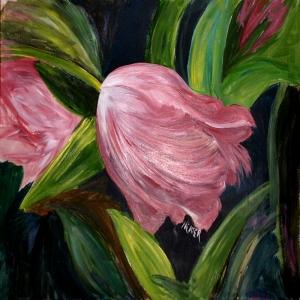 Çiçekler 16, Pempe, Laleler İç Mekan Dekoratif Kanvas Tablo
